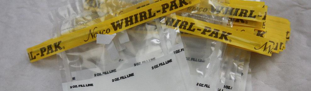 Whirl Pak sampling bags